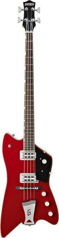 G6199 Billy Bo Jupiter Thunderbird Bass, 30.3` Scale, `G` Cutout Tailpiece, TV Jones®, Rosewood Fingerboard, Firebird Red