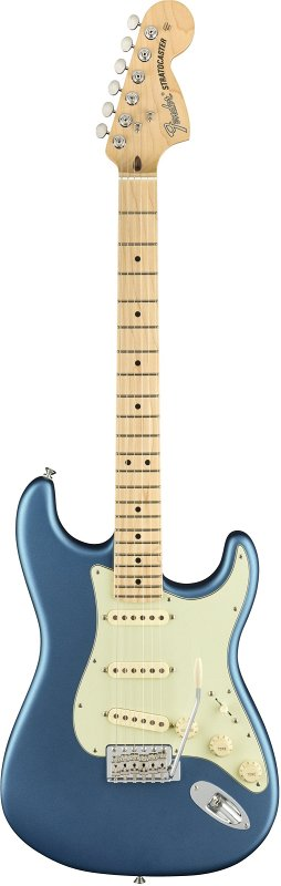 AMERICAN PERFORMER STRATOCASTER®, MAPLE FINGERBOARD, SATIN LAKE PLACID BLUE фото