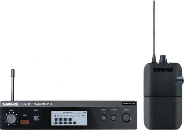SHURE P3TERA M16 PSM300+ металлический приемник +SHURE SE215-CL-EFS наушники внутриканальные с одним драйвером