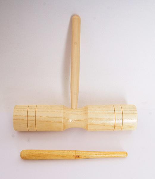 FLT-G6-1 Тон-блок деревянный на ручке двойной
