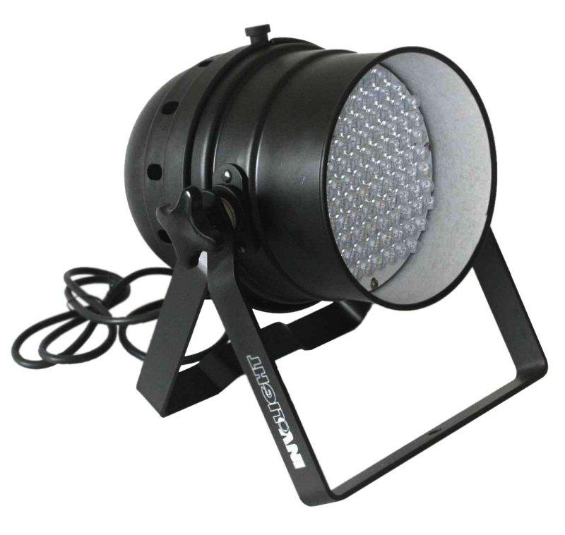 LED Par56/BK - светодиодный RGB прожектор (чёрн) , звуковая активация , DMX-512