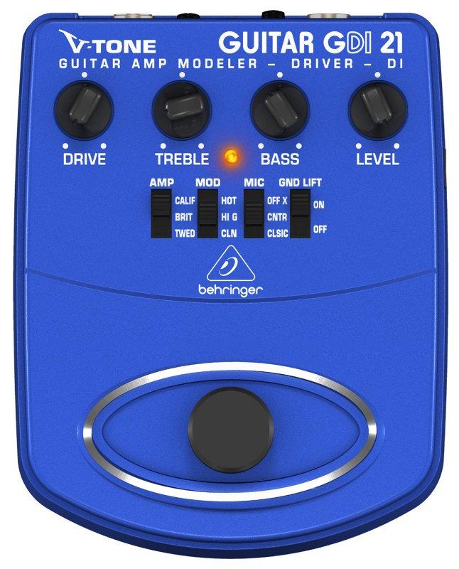 GDI21 - Педаль моделир. гитарных усилителей / предусилитель для прямой записи / DI-бокс