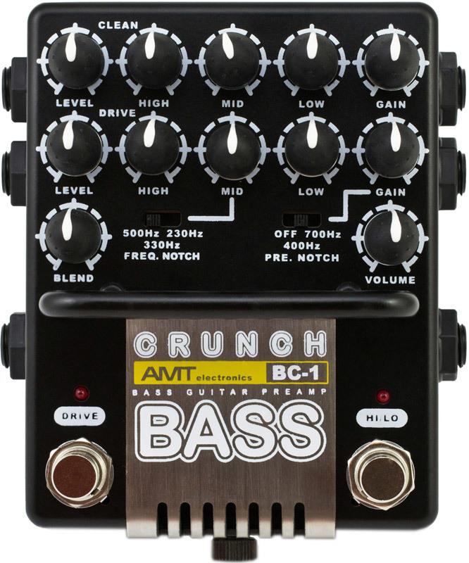 Electronics BC-1 `Bass Crunch` Транзисторный двухканальный предусилитель для бас-гитары