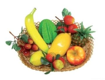 SHAKER FRUIT BASKET набор пластиковых шейкеров фрукты, 9 предметов, с корзинкой
