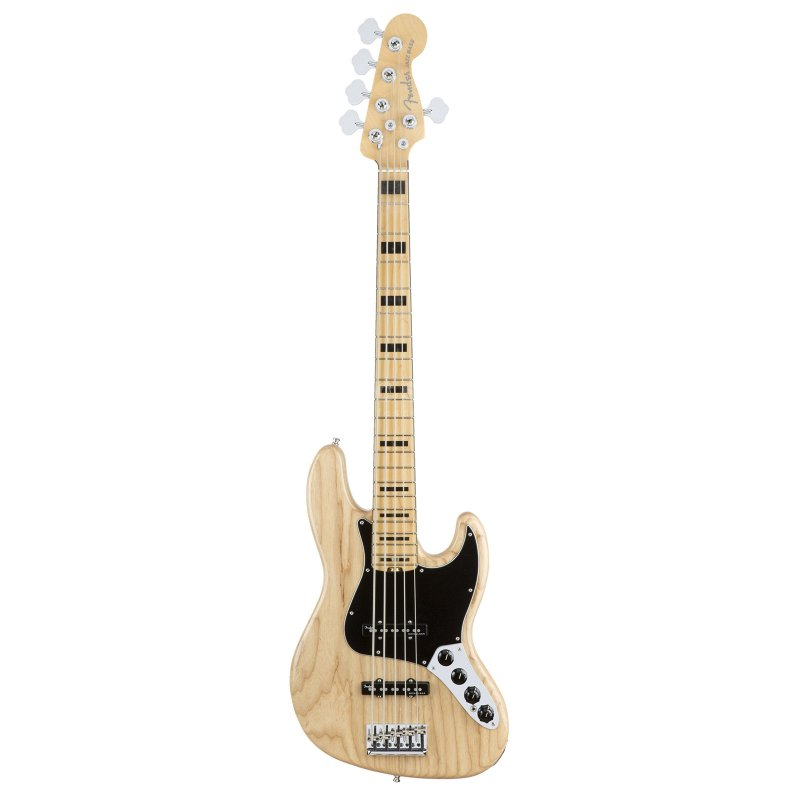 AM PRO Jazz Bass® 5 String, Ash , Maple Fingerboard, Natural