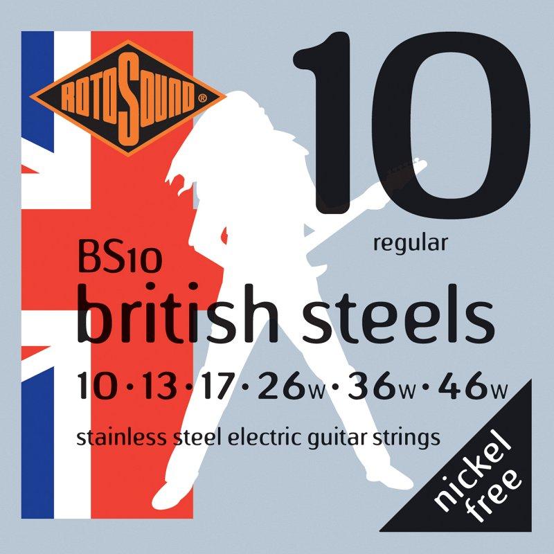 BS10 STRINGS STAINLESS STEEL, ROTOSOUND, Сталь  - купить со скидкой