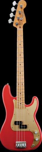 50s Precision Bass, Maple Fingerboard, Fiesta Red