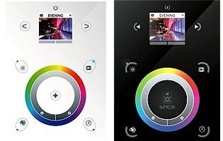 STICK-DE3 - настенный сенсорный DMX контроллер, 1024 канала, цветной дисплей