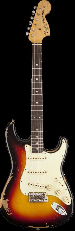 Custom Shop Michael Landau Signature 1968 Relic Stratocaster, Round-Laminated Rosewood, Bleached 3-Color Sunburst