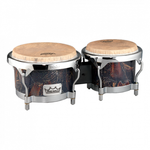 BG-7821-37- Bongo, Drum, Valencia Series, 7/8.5` X 6`, SKYNDEEP® Tucked Drumhead, Calfskin Graphic, Palmilla Finish, Chrome Curved Hoops