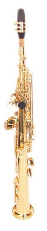 FLT-SSS Саксофон СОПРАНО Bb прямой, верхний G клапан, золотой лакированный, никелированные клапана