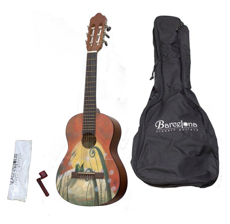 CG10K/COLLINE 1/4 - Набор: классическая гитара детская, размер 1/4 и аксессуары