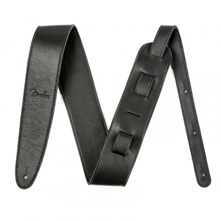 Artisan Crafted Leather Strap, 2.5` Black