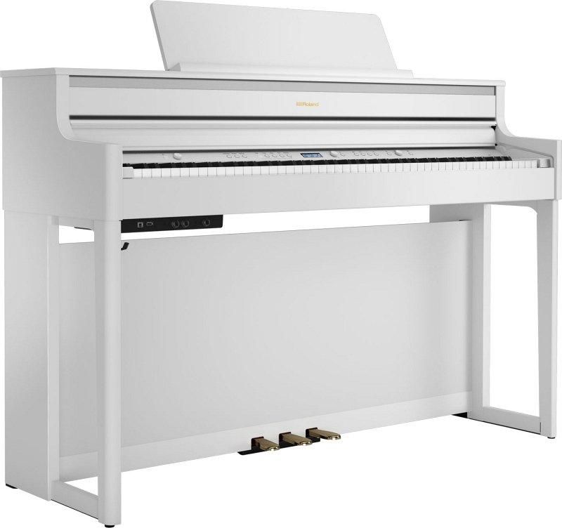 HP704-WH цифровое фортепиано + стенд, ROLAND  - купить со скидкой