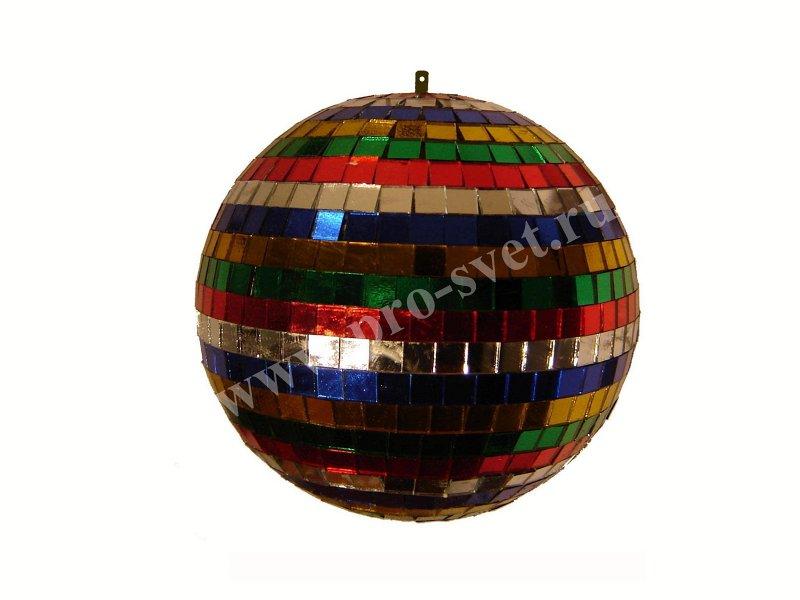 Light зеркальный шар разноцветный 40 см
